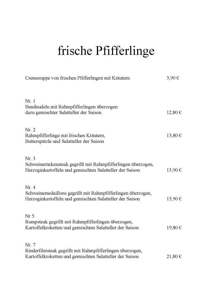 Pfifferlinge 2017